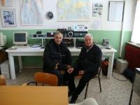 IW9DOP Nino CISAR  Ragusa e IW5ACL Marcello ARI Pontedera in visita alla Sezione ARI di Pontedera 2014.JPG