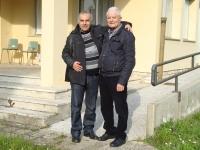IW9DOP Nino  Cisar Ragusa e IW5ACL Marcello davanti alla Sezione ARI di Pontedera 2014.JPG